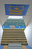 Photo from inside the tunnel at Fratton Park, Portsmouth Football Club.