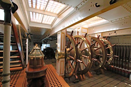 HMS Warrior berthed at Portsmouth Dockyard