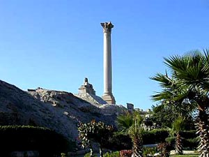 Pompey's pillar at Alexandria