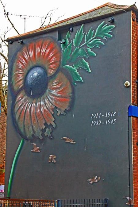 Remembrance mural at Portsea, Portsmouth
