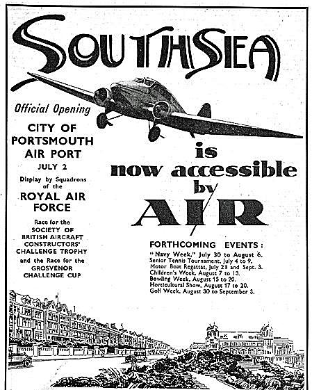 Portsmouth Airport opening ceremony poster 1932