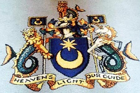 Star and crescent, coat of arms, Portsmouth