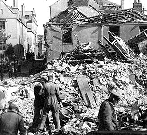 Bomb damage in Portsmouth during The Blitz