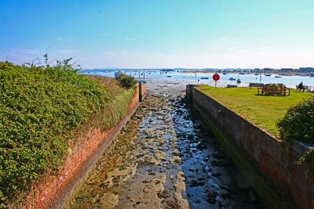 Portsmouth Canal entrance at Langstone Harbour