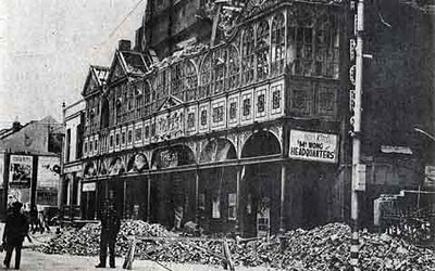 Princes Theatre bomb damage during the Blitz, Lake Road, Portsmouth
