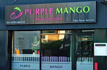 Purple Mango Indian, Southsea. Contemporary Modern Indian Restaurant.