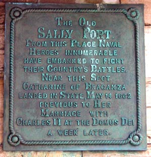 Plaque at Sally Port, Old Portsmouth, Pompey