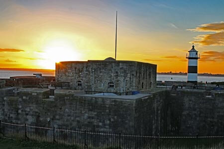 Southsea Castle on the seafront at Portsmouth