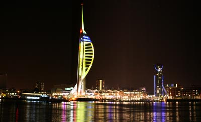 The Spinnaker Tower at Portsmouth Harbour, viewed from Gosport