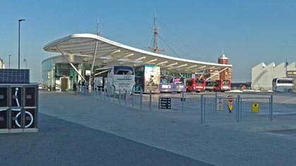 Portsmouth Coach Station, The Hard Interchange