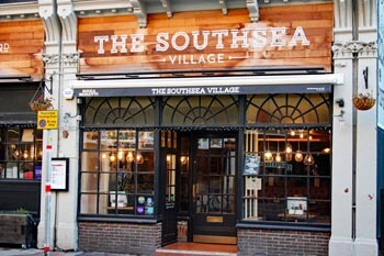 The Southsea Village pub in Palmerston Road, Southsea restaurants and pubs