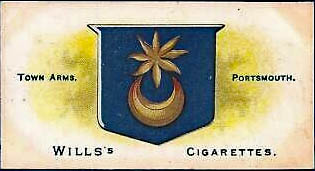 The Star and Crescent as featured on Wills cigarette card, Town Arms, Portsmouth.