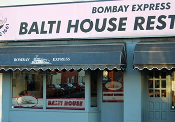 Bombay Express Restaurant at Albert Road, Southsea. Indian Balti House.