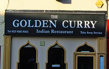 Golden Curry, Albert Road, Southsea. Indian and Bangladeshi food.