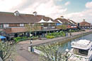 The Boardwalk Port Solent home to shops restaurants and bars, fully serviced marina.